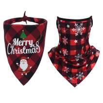 LUOAIYI 2 Pack Christmas Dog Bandana, Classic Buffalo Plaid Dog Bandanas, Xmas Checkered Dog Kerchief/Bibs/Scarf for Small Medium Large Dogs