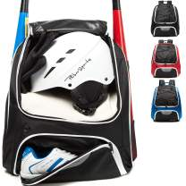 AIRTTUZ Baseball Bag - Baseball Backpack for Youth and Adults, Softball Bat Bag with Shoe Compartment and Fence Hook Hold Bat,Helmet,Glove and Shoes.