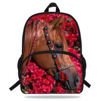 VEEWOW 16-Inch Beautiful Horse Bag School Children Boys Animal Backpack Horse Gifts For Girls (D1081)