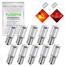 TUINCYN BAU15S PY21W LED Bulb Red Brake Light Bulb Super Bright 8000K 5630 33SMD 1156 7507 12496 5009 7507AST Turn Signal Light Back Up Reverse Light Parking Light DC 12V (Pack of 10)