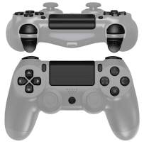 eXtremeRate Black Classical Symbols Replacement Full Set Buttons for Playstation 4 PS4 Slim PS4 Pro CUH-ZCT2 Controller - Compatible with PS4 DTFS LED Kit - Controller NOT Included