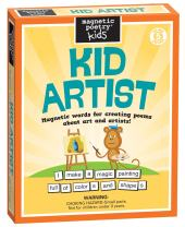Magnetic Poetry - Kid Artist Kit - Ages 5 and Up - Words for Refrigerator - Write Poems and Letters on The Fridge - Made in The USA