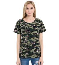 Romastory Womens Camo t Shirts Short Sleeve O-Neck Camouflage T-Shirt Casual Tops Tees