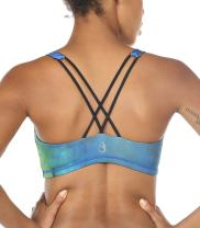 icyzone Sports Bra Women - Women's Workout Clothes, Strappy Sports Bra, Yoga Tops, Exercise Tops