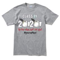 Customised Perfection Class of 2020 Quarantined Toilet Paper Funny T Shirt Tee T-Shirt