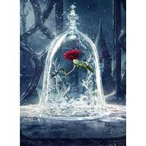 Diamond Painting Kits for Adults Kids, 5D DIY Rose Diamond Art Accessories with Full Drill for Home Wall Decor - 11.8x15.7Inches