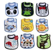 FREE FISHER Baby Bibs Toddler Bib Set,Unisex Water Proof Cotton Toddler Bibs,Drool Bibs with Velcro 9-Pack