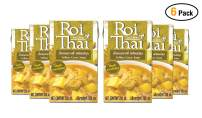 ROI THAI, Ready to cook, Thai Yellow curry soup, Curry sauce, Simmer sauce, Instant curry sauce, Curry paste with coconut milk, Thai food, 8.4 OZ (Yellow Curry, Pack 6)