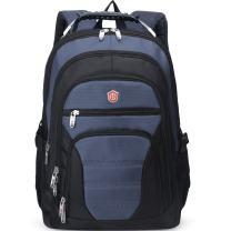 Aoking Men Large Lightweight Backpack Laptop 15.6 Computer Rucksack Travel Business Bag (Navy Blue)