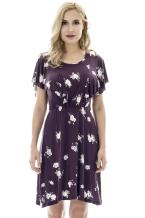 Bearsland Women's Floral Short Sleeve Summer Maternity Breastfeeding Dress Nursing Dress