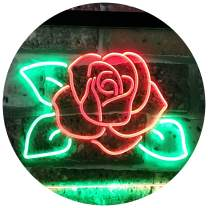 "ADVPRO Rose Flower Home Décor Dual Color LED Neon Sign Green & Red 16"" x 12"" st6s43-i2095-gr"
