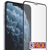 FlexGear Screen Protector for iPhone 11 Pro Max/iPhone Xs MAX [Full Coverage] Tempered Glass, Clear (3-Pack)