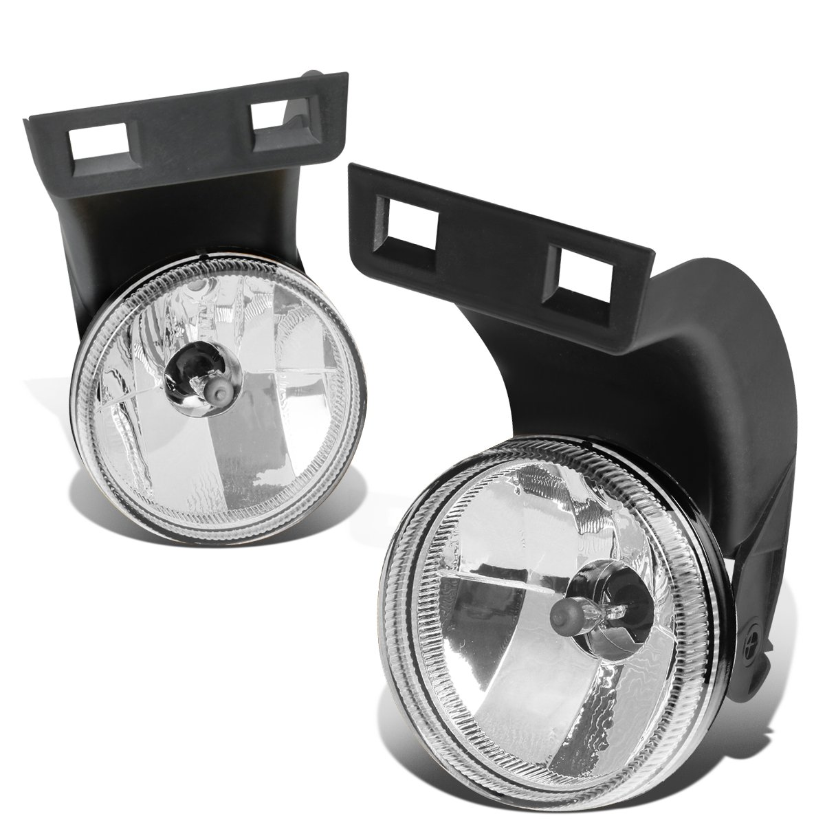 Replacement for 94-98 Ram 1500/2500 / 3500 Pair Clear Lens Front Bumper Driving Fog Light/Lamps (Left+Right)