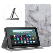 TiMOVO Case Fits All-New Fire 7 Tablet (9th Generation, 2019 Release), Lightweight Folio Stand with Multiple Viewing Angles, Auto Wake/Sleep Fit Amazon Fire 7 - Dark Gray Marble