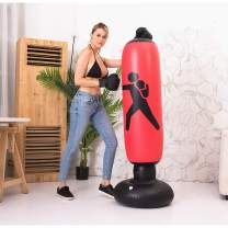 BOOMGROO Inflatable Punching Body Bag with Stand, Boxing Bag Toy Boxing Stand Heavy Bag Stand Strength Enhancer Boxing Toy for Kids Youth Teenager Junior & Adults Boom Boom Boxing