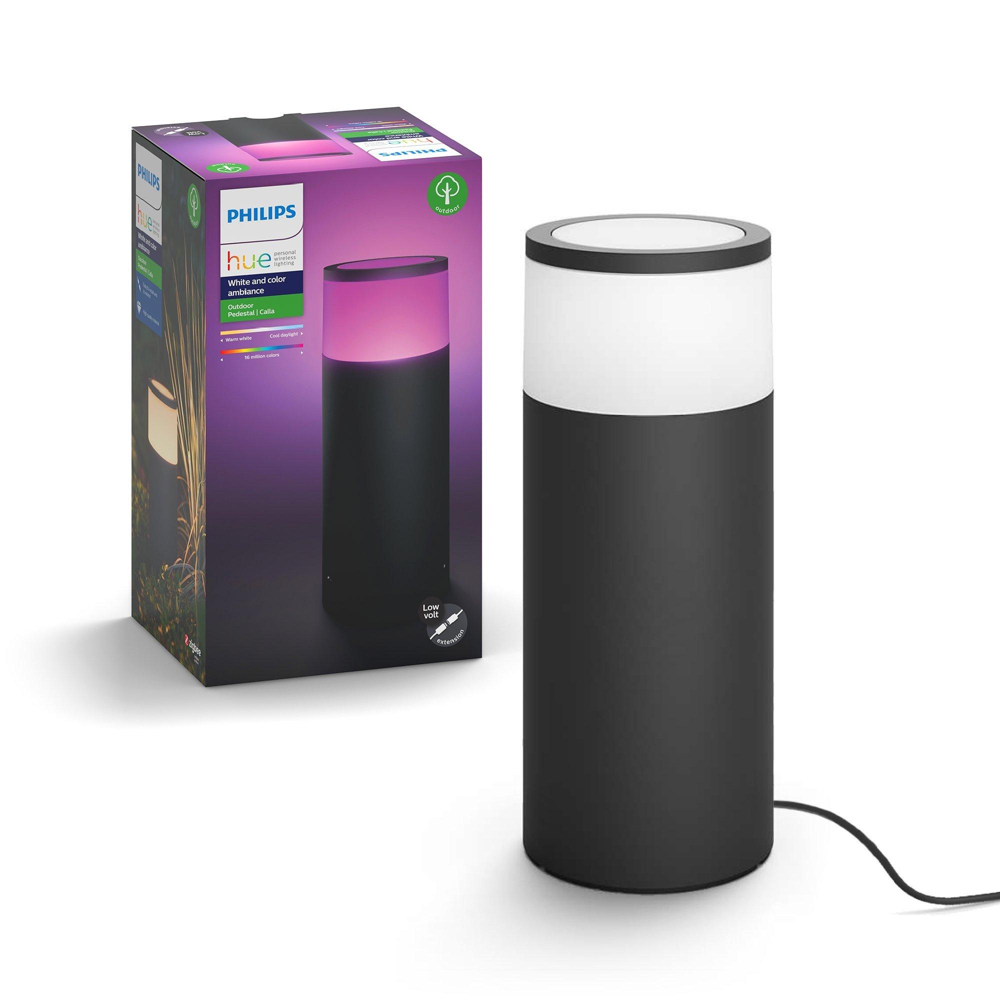 Philips Hue Calla White & Color Ambiance Outdoor Smart Pathway light extension (Hue Hub & Base Kit), 1 Hue White & Color Pathway light + mounting kit, Works with Alexa, HomeKit & Google Assistant