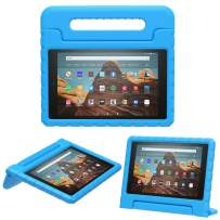 MoKo Case for Fire HD 10 Tablet (5th/7th/9th Generation, 2015/2017/2019 Release), Kids Shock Proof Convertible Handle Light Weight Super Protective Stand Cover Case for Fire HD 10.1 Inch, Blue
