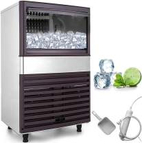 VEVOR Ice Cube Making Machine Intelligent 300W Commercial Ice Maker 45KG/100LBS Per 24H Auto Clean 40 Cases for Bars Coffee Shops Hotels