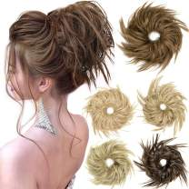 2PCS Tousled Updo Messy Bun Hair Piece Hair Bun Extensions Bun Scrunchie Scrunchy Updo Hairpiece