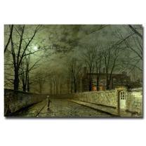 Silver Moonlight 1880  by John Atkinson Grimshaw, 30x47-Inch Canvas Wall Art