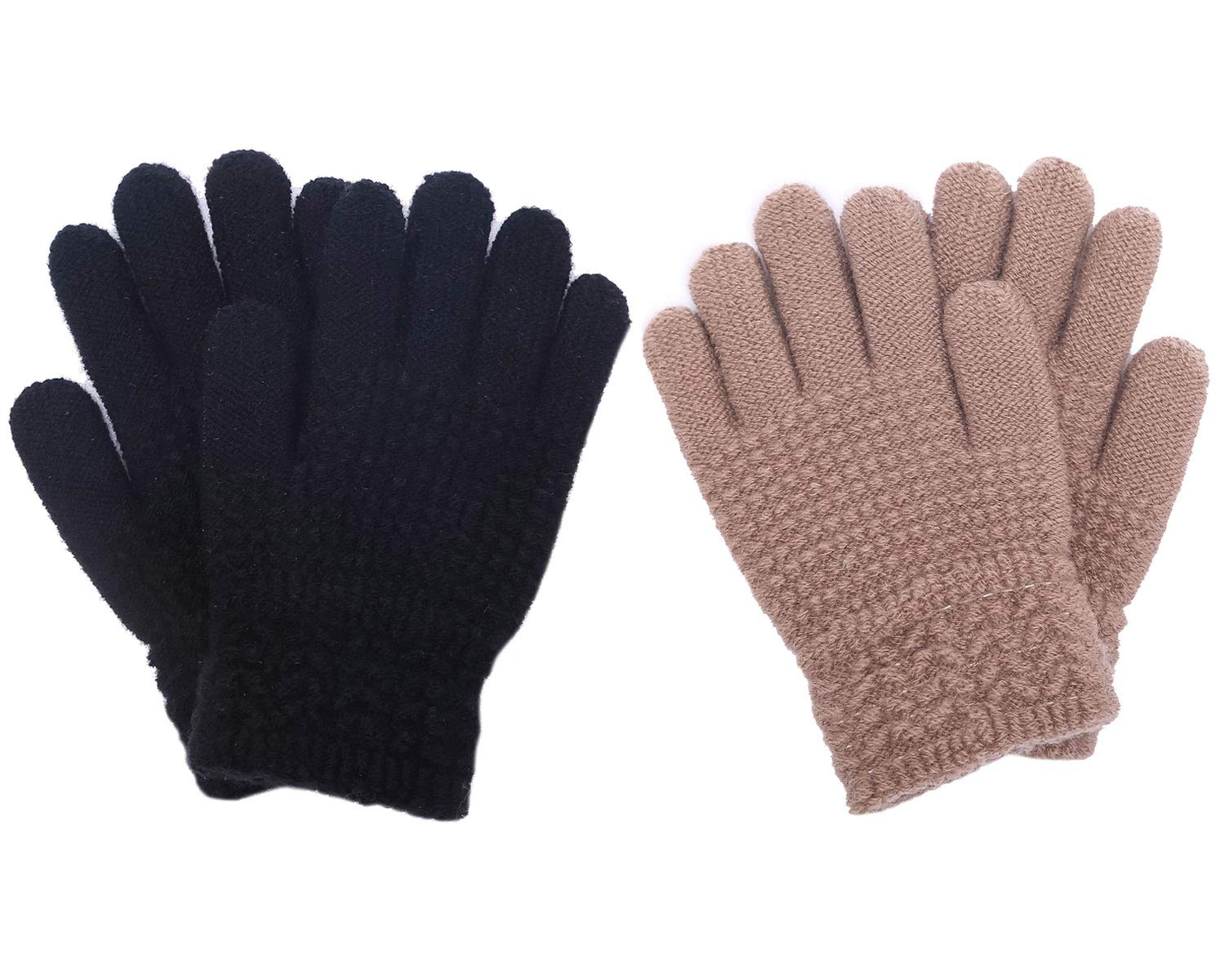 CEAJOO Kids Gloves Winter Knit Cashmere Stretchy Warm