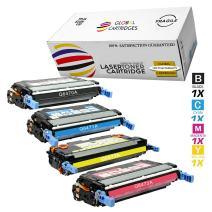 GLB Premium Quality Remanufactured Replacement for HP 501A/502A HP 3600 Toner Cartridge Set Q6470A Q6471A Q6472A Q6473A (Black, Cyan, Yellow, Magenta)