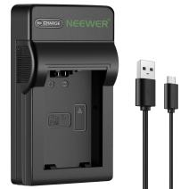 Neewer Slim Fast Micro USB Battery Charger for Sony FW50 Battery, Sony Alpha A6000, A6400, A6100, A6300, A6500, A5100, A7, A7 II, A7R, A7R II, A7R2, A7S, A7S II, A7S2, A5000, A3000, A55, RX10