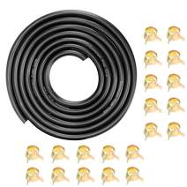 """Cococart 9.85-Foot Length Stretchy 1/4 Inch ID Fuel Line+20pcs 2/5"""" ID Hose Clamps for Kawasaki Kohler Briggs & Stratton Small Engines"""