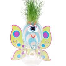 AvoSeedo Grass Head - Funny Fast Growing Grass Head Learning Toy for Kids (Butterfly)