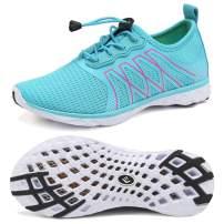 CIOR Boys & Girls Water Shoes Quick Drying Sports Aqua Athletic Sneakers Lightweight Sport Shoes(Toddler/Little Kid/Big Kid) U1ELJSX005-Light Blue-34