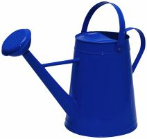 Tierra Garden 36-5081B Traditional Metal Watering Can, 2.1-Gallon, Blue