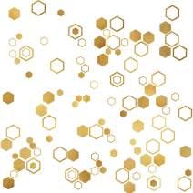 Easma Honeycomb Wall Decals Hexagon Vinyl Wall Decals Geometric Wall Decals Honey Comb Vinyl Gold Wall Decor