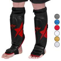 Elite Sports Muay Thai Shin Guards Kickboxing MMA Muay Thai Protective Shin Pad Leg Guards