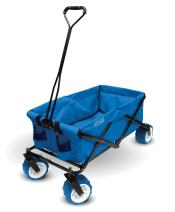 Creative Outdoor Collapsible Folding Wagon Cart for Kids and Pets | All Terrain | Beach Park Garden Sports & Camping | Cool Blue