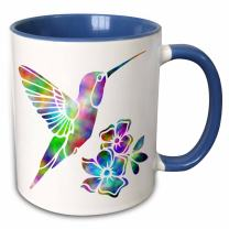 3dRose 220824_11 Mug, 15oz, Blue/White
