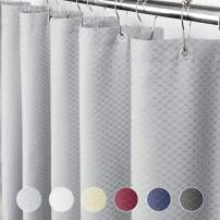 Eforcurtain Home Fashion Waffle Shower Curtain for Hotel, Waterproof Bathroom Curtain Durable Fabric, Extra Long 72Inch by 86Inch, Grey
