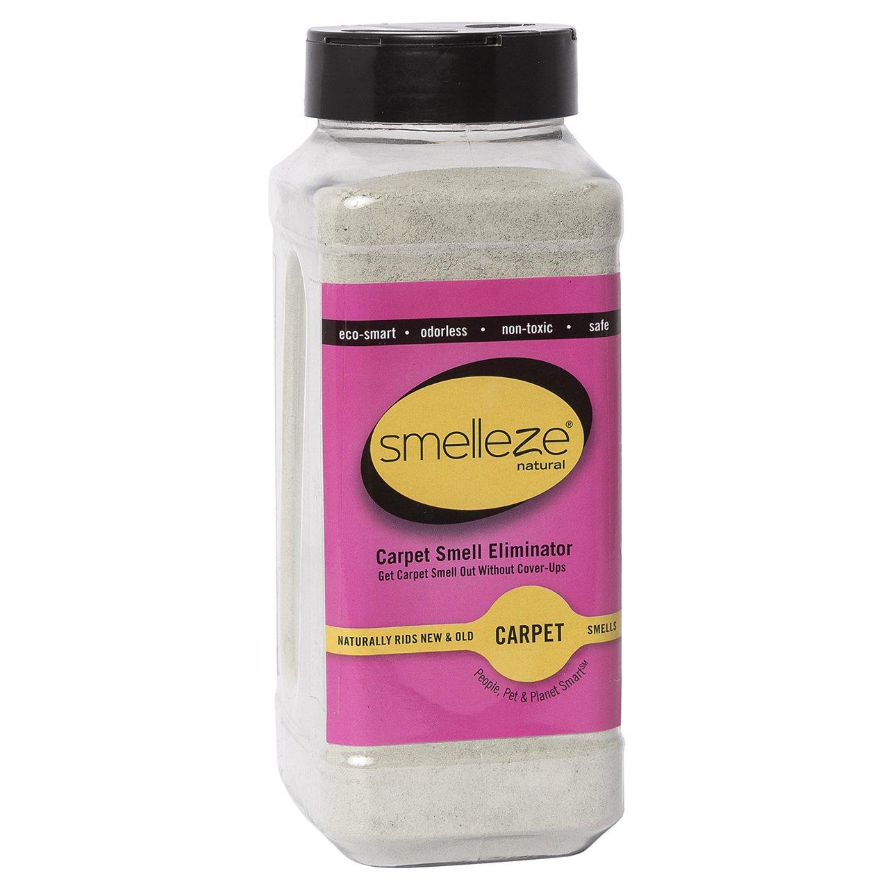 SMELLEZE Natural New Carpet Odor Eliminator Deodorizer: 2 lb. Powder Rids Carpet VOC