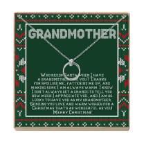 Grandmother Christmas Necklace - Heartfelt Card & Jewelry Gift Set