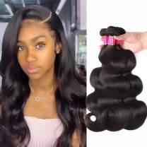 TodayOnly 10A Grade Brazilian Hair Body Wave 3 Bundles (18/20/22 inch) 100% Unprocessed Virgin Human Hair Peruvian Bundles Remy Weave Hair Bundles, Natural Black Color