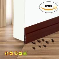"""Camel Home Door Sweep Weather Stripping - Self Adhesive Door Draft Stopper Rubber Door Seal for Interior Doors Soundproof under Door Bottom Seal Strip for Energy Saver, 2"""" W X 39"""" L (Brown)"""