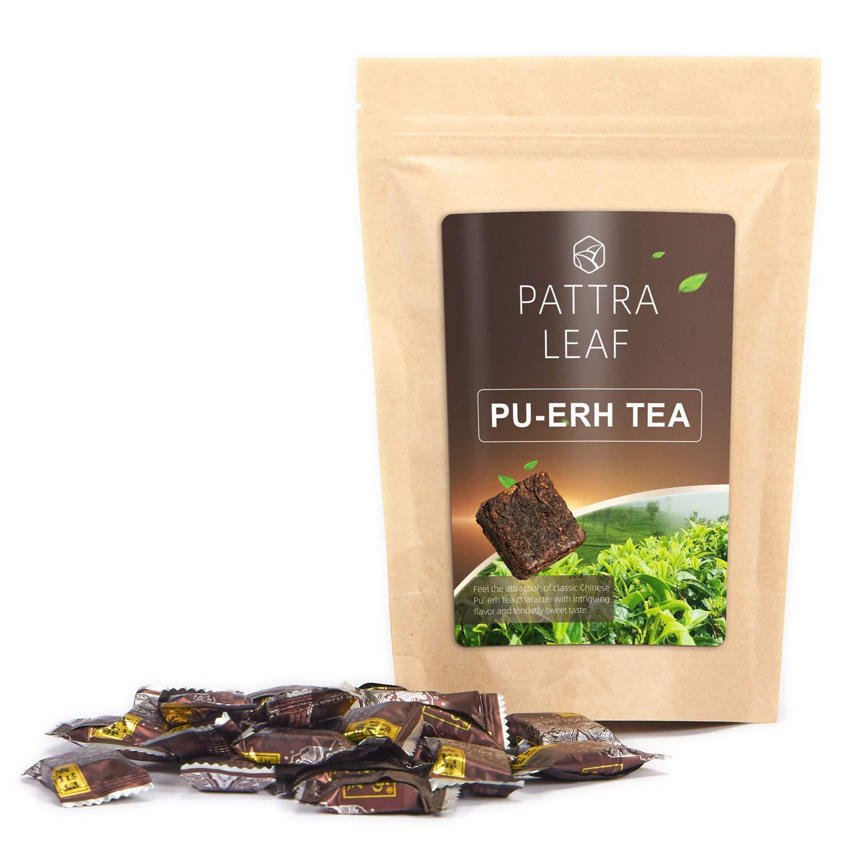 Pu'erh Black Tea Bags-Yunnan Ripe Pu'erh Tea Compressed in Small Loose Tea Blocks with Resealable Bag-4oz