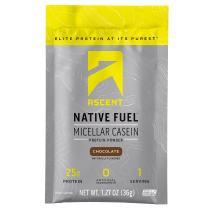 Ascent Native Fuel Micellar Casein Protein Powder - Chocolate - 15 Single Serve Packets
