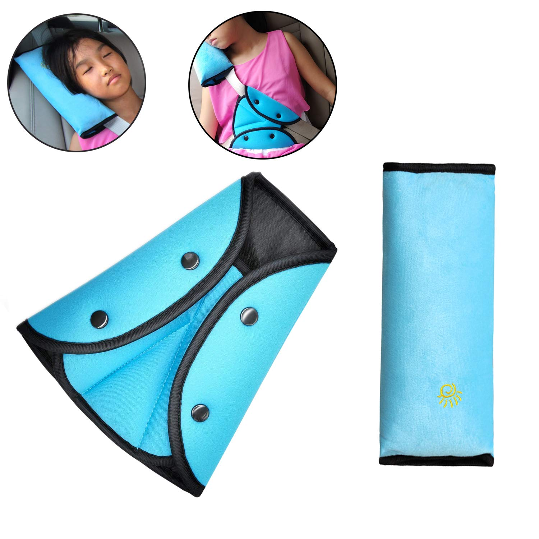 Timorn car Seat Belt Safety Adjuster, Seat Belt Shoulder Pads, SeatBelt Cover, car Seatbelt Pillow cover for kids