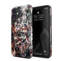 BURGA Phone Case Compatible with iPhone 11 - Volcano Island Lava Fire Black Marble Cute Case for Woman Heavy Duty Shockproof Dual Layer Hard Shell + Silicone Protective Cover