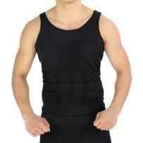 Mens Compression Shirt, Body Shaper Workout Tank Tops Training Shirt Undershirts