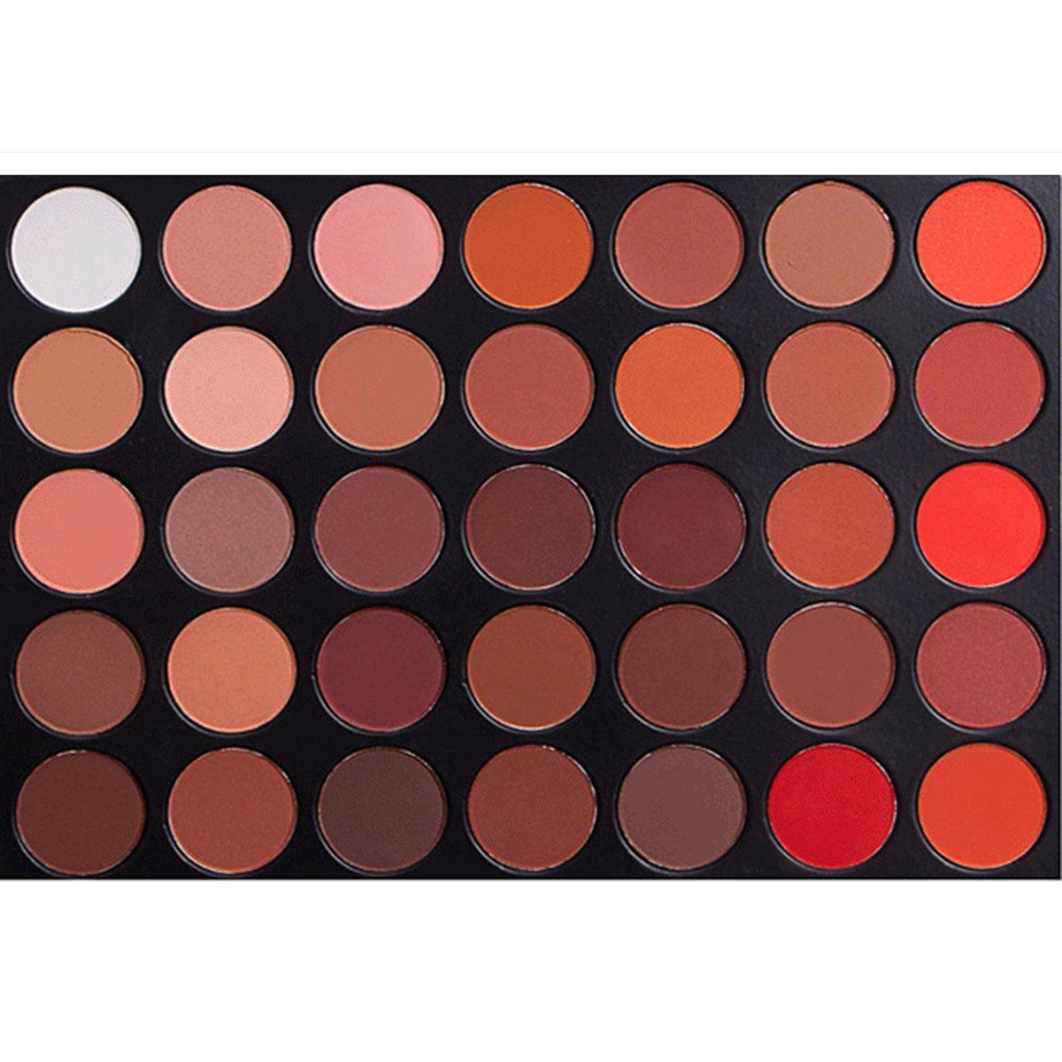 MISKOS 35 Colors Eyeshadow Palette, All Matte Warm Pigmented 35OM Makeup Eye shadow Palettes Natural Makeup Set