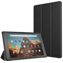 TiMOVO Slim Case for All-New Amazon Fire HD 10 Tablet (9th Generation, 2019 Release and 7th Generation, 2017 Release) - Ultra Lightweight Stand Cover Case for Fire HD 10.1 Inch Tablet, Denim Gray