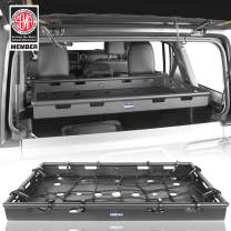 Hooke Road Hardtop Cargo Cover Basket Rack Solid Metal Luggage Storage Carrier for 2018 2019 2020 Jeep Wrangler JL Unlimited 4-Door(Excluded Sky One-Touch Power Top)