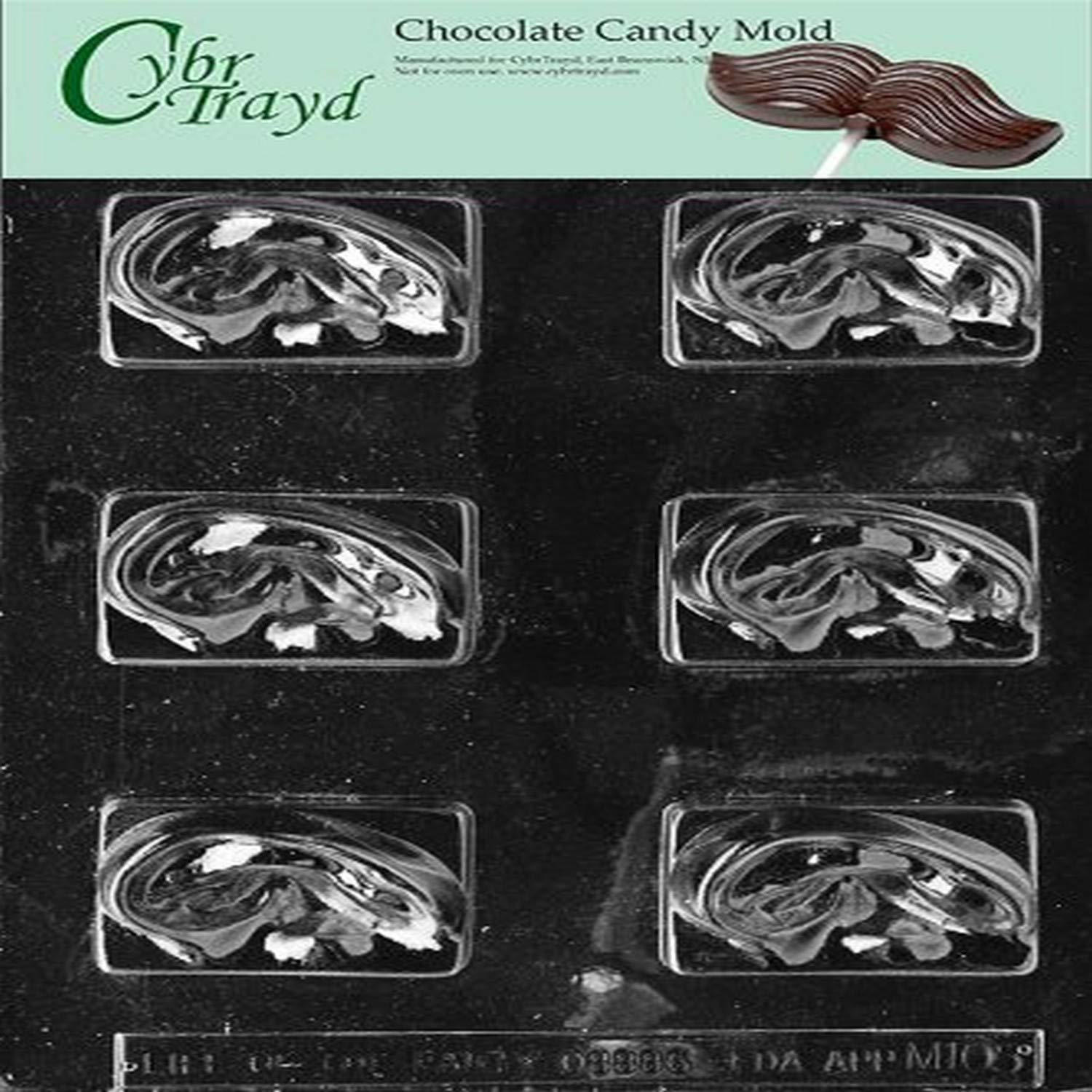 Cybrtrayd M105 Ears Chocolate Candy Mold with Exclusive Cybrtrayd Copyrighted Chocolate Molding Instructions
