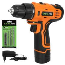 GALAX PRO 12V 2-Speed Cordless Drill, Compact, with 6-Piece Accessories (YD022)